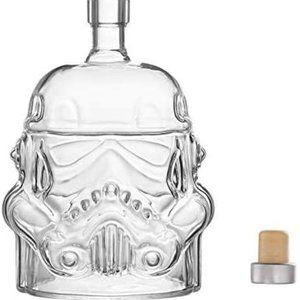 STAR WARS WHISKY DECANTER Liquor Bottle Glass NEW